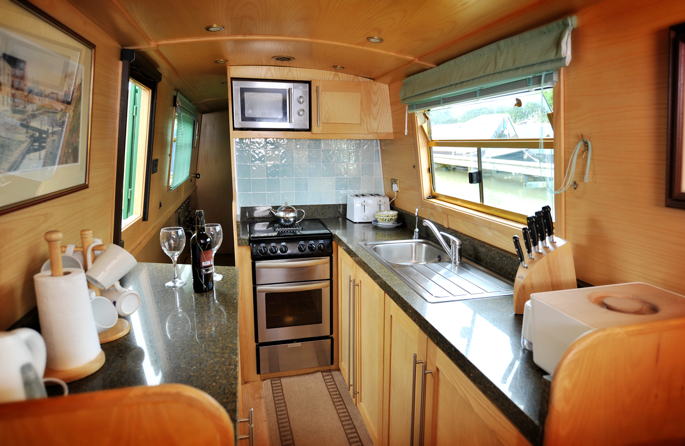 Canal Boat Nottingham Interior - Granite Transformations