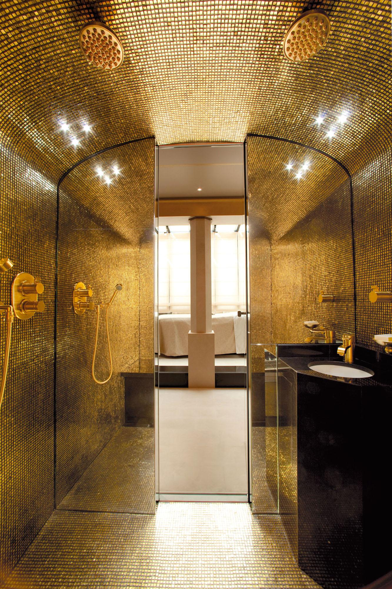 Steambath Duplex Suite Park Hyatt Paris Granite