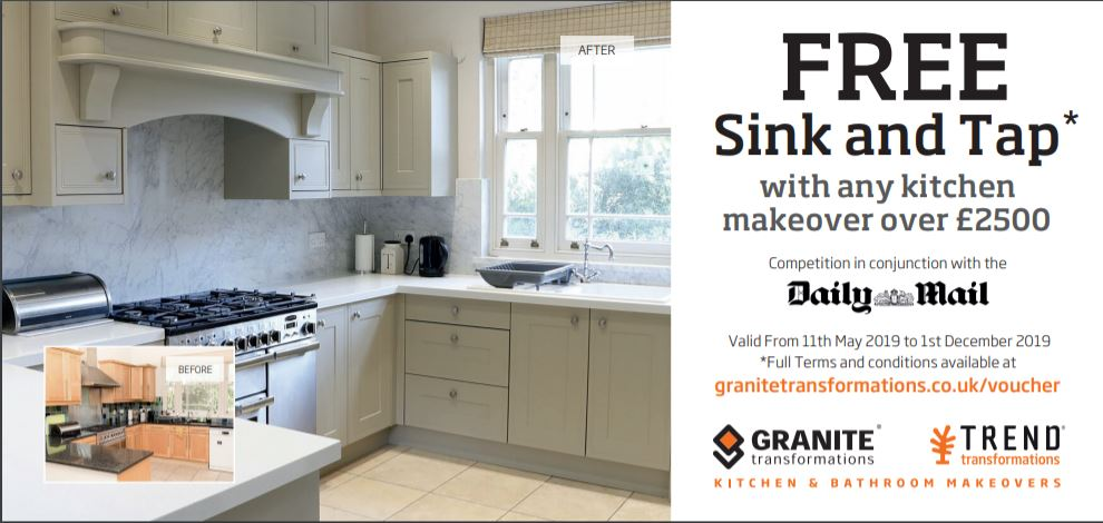 FREE SINK AND TAP OFFER! - Granite Transformations